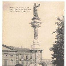Postales: POSTAL PAMPLONA MONUMENTO A LOS FUEROS DE NAVARRA . Lote 173015950