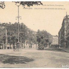 Postales: POSTAL PAMPLONA CALLE DE LOS HÉROES DE ESTELLA . Lote 173018980