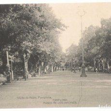 Postales: POSTAL PAMPLONA PASEO DE LOS JARDINES. Lote 173956135
