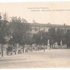Postales: POSTAL PAMPLONA BOULEVARD DE SARASATE Y AUDIENCIA. Lote 173956224