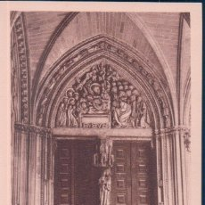 Postales: POSTAL CATEDRAL DE PAMPLONA - CLAUSTROS - PUERTAS DE LA CATEDRAL - ESPAÑA - MESAS. Lote 174336845