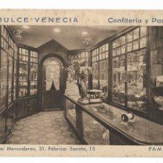 Postales: PAMPLONA - LA DULCE VENECIA - CONFITERÍA Y PASTELERÍA. Lote 175710222