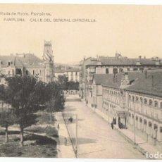 Postales: POSTAL PAMPLONA CALLE DEL GENERAL CHINCHILLA . Lote 176347850
