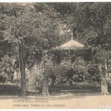 Postales: POSTAL PAMPLONA PASEO DE LOS JARDINES . Lote 176352393