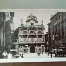Postales: POSTAL PAMPLONA CASA CONSISTORIAL. Lote 176401014