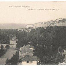 Postales: POSTAL PAMPLONA PUENTE DE LA ROCHAPEA . Lote 177792362