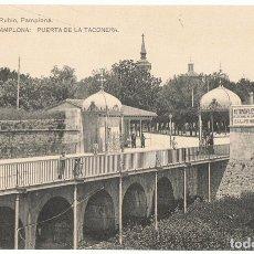 Postales: POSTAL PAMPLONA PUERTA DE LA TACONERA . Lote 177793225