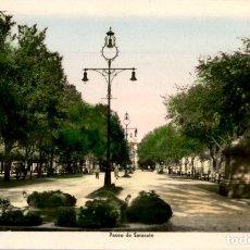 Postales: PAMPLONA – PASEO DE SARASATE - EDICIONES ARRIBAS – COLOREADA – 9X14. Lote 178033798