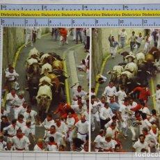 Postales: POSTAL DE NAVARRA, PAMPLONA. ENCIERRO DE SAN FERMIN. SANFERMINES. 44. Lote 178393096