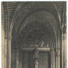 Postales: POSTAL PAMPLONA CATEDRAL PUERTA DE LA VIRGEN . Lote 178950476