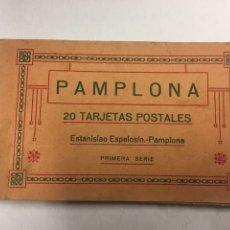Postales: PAMPLONA - TARJETAS POSTALES BLOC DE 20 SOLO CONSERVA 15 - ESTANISLAO ESPELOSIN PRIMERA SERIE. Lote 180943415