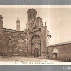 Postales: TARJETA POSTAL. VIANA. NAVARRA. PORTICO DE LA IGLESIA DE SAN PEDRO. 100. L.ROISIN. Lote 182355920