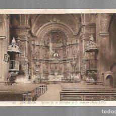 Postales: TARJETA POSTAL. LOS ARCOS. NAVARRA. INTERIOR DE LA PARROQUIA DE LA ASUNCION. 84. L.ROISIN. Lote 182356265