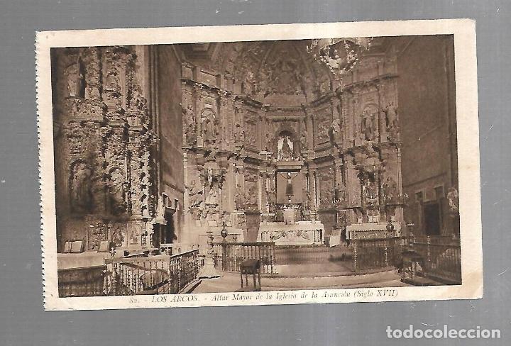 TARJETA POSTAL. LOS ARCOS. ALTAR MAYOR DE LA IGLESIA DE LA ASUNCION. 82. L.ROISIN (Postales - España - Navarra Antigua (hasta 1.939))