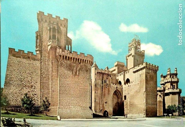 OLITE (NAVARRA). 9860 CASTILLO. POSTALES VAQUERO. USADA CON SELLO. COLOR (Postales - España - Navarra Moderna (desde 1.940))
