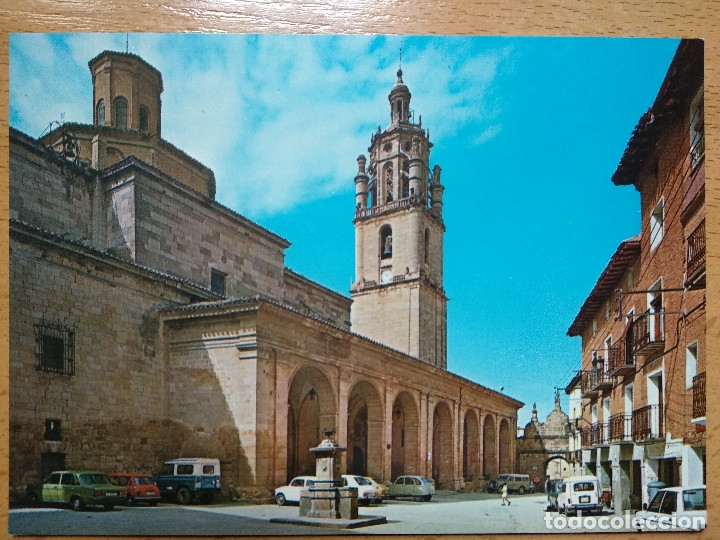 LOS ARCOS. NAVARRA. PLAZA DE SANTA MARIA. (Postales - España - Navarra Moderna (desde 1.940))