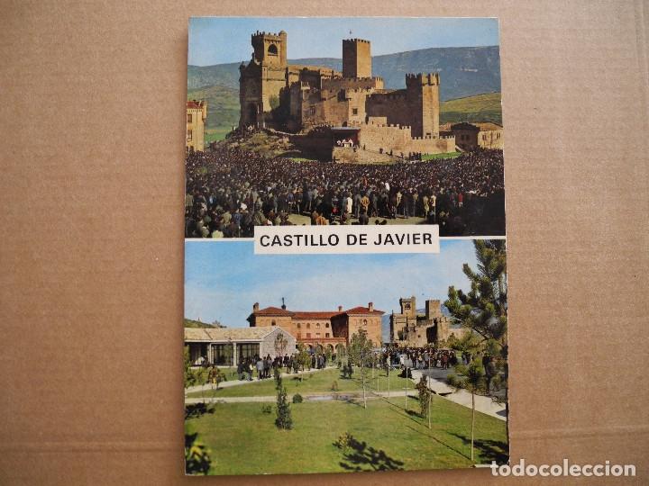 CASTILLO DE JAVIER. PEREGRINACIÓN AL CASTILLO DE JAVIER. MISA DE CAMPAÑA Y COMUNIÓN SICILIA 2 NUEVA (Postales - España - Navarra Moderna (desde 1.940))