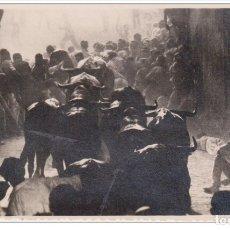 Postales: FOTOGRAFÍA J GALLE - PAMPLONA. SAN FERMIN ENCIERRO DE LOS TOROS. Lote 182732621