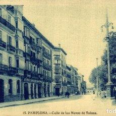 Postales: PAMPLONA, CALLE DE LAS NAVAS DE TOLOSA. Lote 182735251