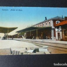 Postales: CASTEJON NAVARRA ESTACION DEL FERROCARRIL ANDEN DE RIOJA. Lote 182939635