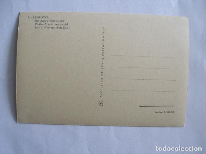 Postales: Río Arga y vista parcial Pamplona - Postal Madrid 1960 - Foto 2 - 182950467