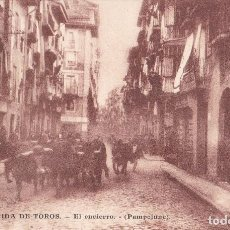 Postales: PAMPLONA - IRUÑA - ENCIERRO Y CORRIDA DE TOROS - 22 POSTALES - EN CASTELLANO Y FRANCÉS. Lote 184462787