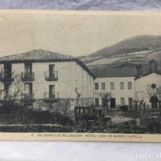 Postales: 2 BALNEARIO DE BELASCOAIN - HOTEL CASA DE BAÑOS Y CAPILLA - NAVARRA - SIN CIRCULAR. Lote 184530907