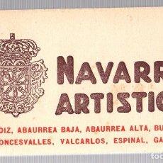 Postales: BLOC POSTAL NAVARRA ARTISTICA. Nº 3. L. ROISIN. INCOMPLETO, 17 POSTALES. Lote 184702123