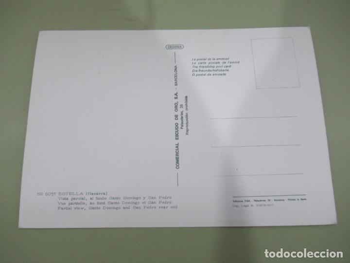 Postales: Estella (Navarra) Vista parcial, al fondo Santo Somingo y San Pedro - S/C - Foto 2 - 186136045