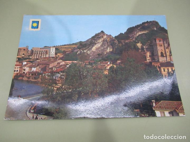 ESTELLA (NAVARRA) VISTA PARCIAL, AL FONDO SANTO SOMINGO Y SAN PEDRO - S/C (Postales - España - Navarra Moderna (desde 1.940))