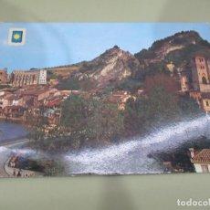 Postales: ESTELLA (NAVARRA) VISTA PARCIAL, AL FONDO SANTO SOMINGO Y SAN PEDRO - S/C. Lote 186136045