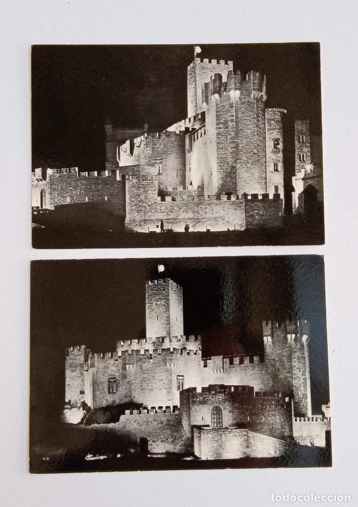 PAREJA DE POSTALES DEL CASTILLO DE JAVIER. NAVARRA. SIN ESCRIBIR (Postales - España - Navarra Moderna (desde 1.940))