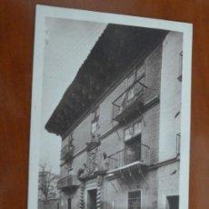 Postales: SANGUESA CASA DE LOS MARQUESES DE VALLE SANTORO POSTAL ORIGINAL ANTIGUA SIN CIRCULAR. Lote 188479108