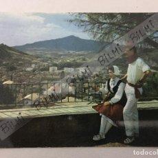 Postales: NAVARRA, POSTAL DE ESTELLA, VISTA PARCIAL Y PAREJA TIPICA, NUMERO 1. Lote 189387542