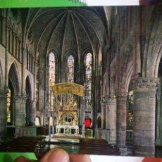Postales: POSTAL RONCESVALLES NAVARRA INTERIOR DE LA IGLESIA ESTILO GÓTICO SIGLOXIII. Lote 190031372