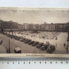 Postales: POSTAL. PAMPLONA. PLAZA DEL CASTILLO. FOTÓGRAFO?. H. 1950?.. Lote 190331862