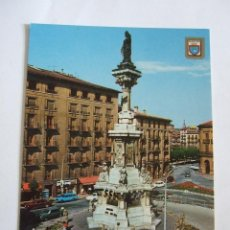 Postales: POSTAL PAMPLONA - MONUMENTO A LOS FUEROS - 1975 - DOMINGUEZ 50 - SIN CIRCULAR. Lote 191199308