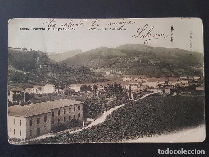 VERA DE BIDASOA NAVARRA BARRIO DE ALZATE REVERSO SIN DIVIDIR (Postales - España - Navarra Antigua (hasta 1.939))