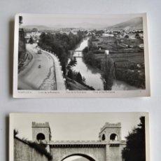 Postales: LOTE 2 POSTALES DE PAMPLONA. VISTA ROCHAPEA Y PUENTE Y BAJADA A LA ROCHAPEA. MANIPEI RTRE.. Lote 191630166