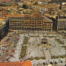 Cartes Postales: PAMPLONA, PLAZA DEL CAUDILLO, VISTA AÉREA - ESCUDO DE ORO Nº 23 - S/C. Lote 191723195