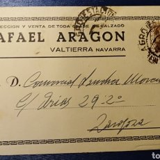Postales: VALTIERRA, NAVARRA, TARJETA COMERCIAL RAFAEL ARAGON. Lote 191987778