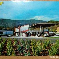 Postales: LIÉDENA - 2 HOSTAL LATORRE Y ESTACIÓN DE SERVICIO EN LA RUTA PAMPLONA-JACA. Lote 192185827