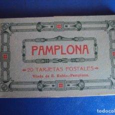 Postales: (PS-62817)BLOCK DE 20 POSTALES DE PAMPLONA-FOTOTIPIA HAUSER Y MENET. Lote 192330885