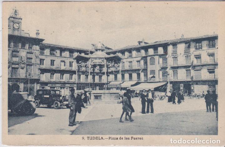 TUDELA (NAVARRA) - PLAZA DE LOS FUEROS (Postales - España - Navarra Antigua (hasta 1.939))
