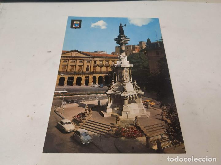 NAVARRA - POSTAL PAMPLONA - MONUMENTO A LOS FUEROS (Postales - España - Navarra Moderna (desde 1.940))