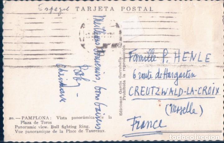 Postales: POSTAL PAMPLONA - VISTA PANORAMICA DE LA PLAZA DE TOROS - GARRABELLA - Foto 2 - 193885985