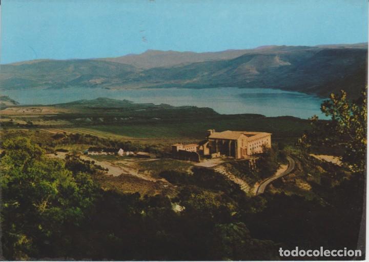 (105) LEYRE. NAVARRA. MONASTERIO Y PANTANO DE YESA ... SIN CIRCULAR (Postales - España - Navarra Moderna (desde 1.940))