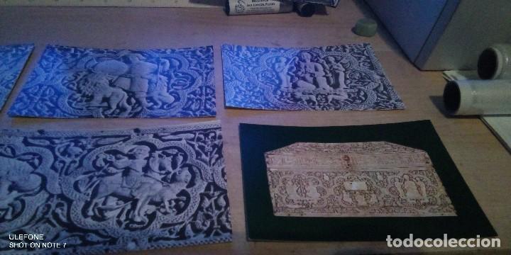 Postales: lote 6 postales museo de navarra arqueta hispanoarabe de marfil 1969 - Foto 3 - 194228465