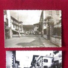 Postales: W.- 36.- LOTE DE - 2 - POSTALES DE ELIZONDO ( NAVARRA ) CALLE SANTIAGO.- CIRCULADAS , VER FOTOS . Lote 194709145