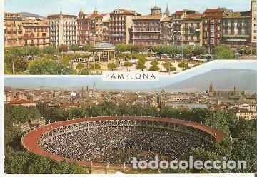 POSTAL PAMPLONA. PLAZA DEL CASTILLO Y COSO TAURINO. 73-226 (Postales - España - Navarra Moderna (desde 1.940))